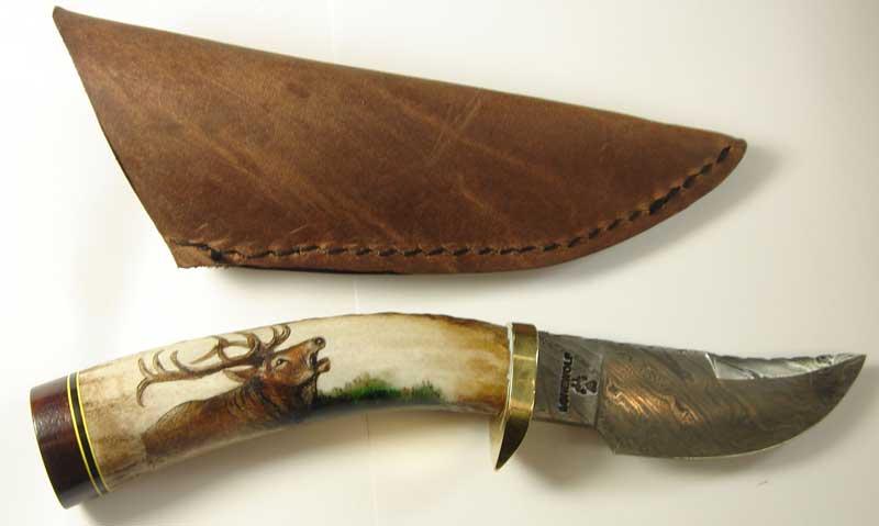 Das Ulu Messer der Inuit Eskimos u. Wikingermesser